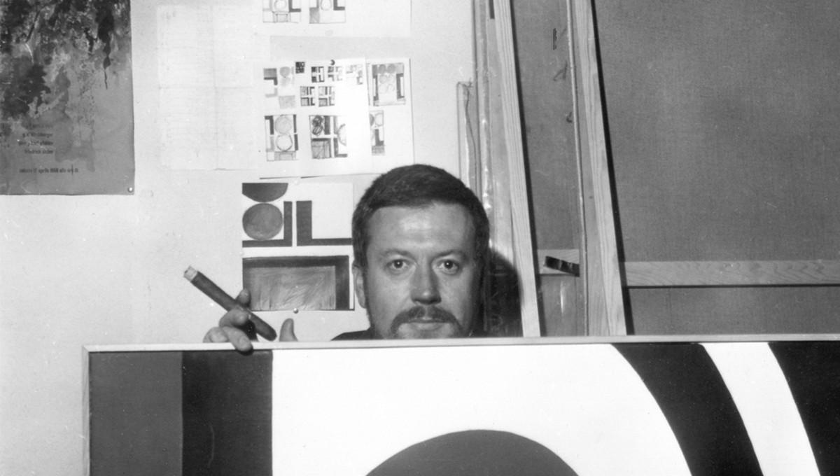 Günther C. Kirchberger im Atelier 1965