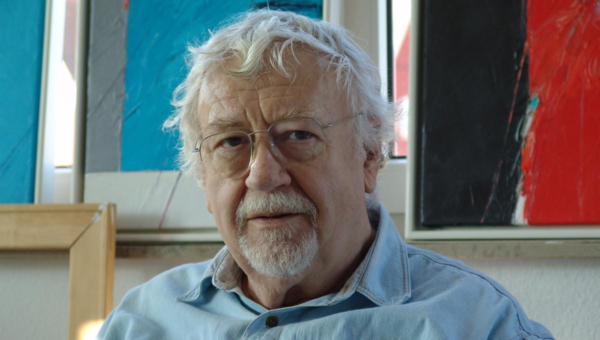 Günther C. Kirchberger im Atelier um 2003