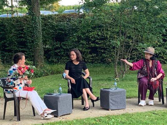 Gundel Kilian, Dr. Melanie Ardjah und Marcia Haydée (v. l.)